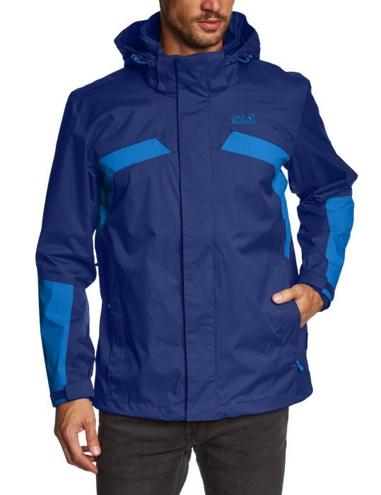 Jacket Wolfskin Mens Night Jack Topaz Sky Blue WE2D9IYH