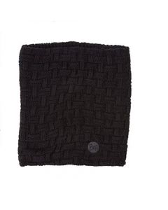 Buff Airon Neckwarmer Knitted & Polar Reversible Black Fleece