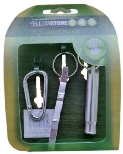 YellowStone Bottle Opener Whistle and Link Silver