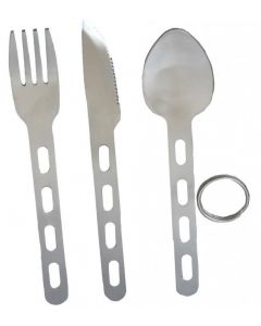 Highlander Travel KFS Cutlery Set Knife Fork Spoon