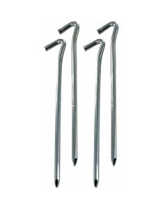 "Highlander 9"" Heavy Duty Wire Steel Pegs 4 Pack"