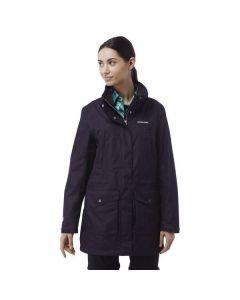 Craghoppers Madigan III Long Ladies Waterproof Jacket Dark Purple