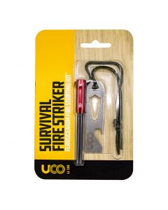 UCO Survival Fire Starter Striker Ferrocerium Fire Starting Kit - Black