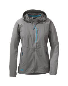 Outdoor Research Women's Ferrosi Hooded Jacket - Pewter / Typhoon