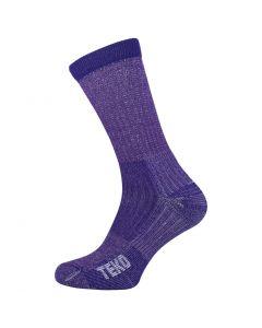 Teko Light Hiking Womens Walking Socks Merino Comfort - Plum