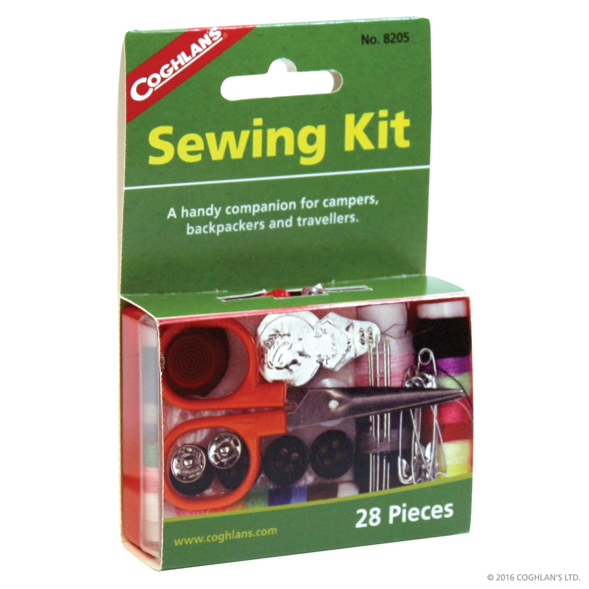Coghlans Emergency Sewing Kit 28 Piece clothing repair thread buttons coghlan/'s